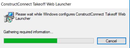 web launcher installation progress